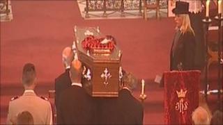 Miss Nearne's coffin