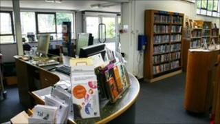 A library interior