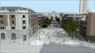 An artist impression of the Eastgate development