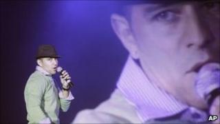 Edward Pimentel performs at the Karaoke World Championships 2010