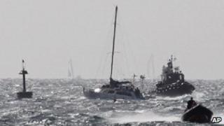 Israeli naval commando boats escort the Irene, 28/09