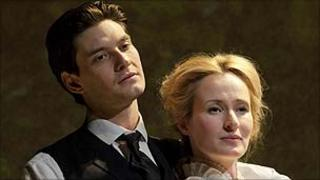 Ben Barnes and Genevieve O'Reilly in Birdsong (photo by Johan Persson)