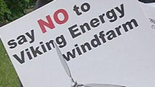 Viking Energy wind farm protest poster