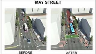 map of planned changes by drd to may street