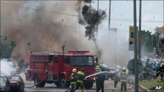 One of the explosions in Abuja, 1 Oct