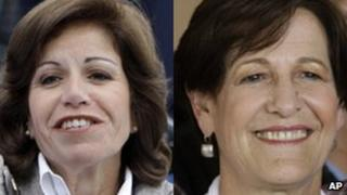 Lourdes Flores (left) and Susana Villaran (right)