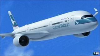 Computer generated image Airbus A350 XWB