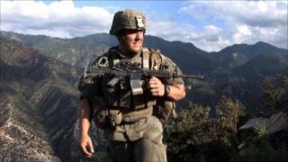 US soldier in Korengal Valley