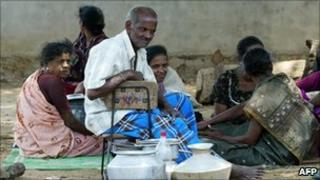 Displaced Tamil refugees