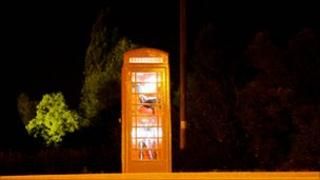 Phone box art gallery