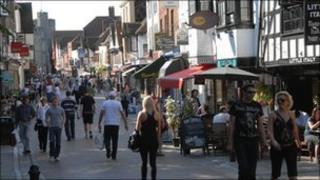 Canterbury town centre