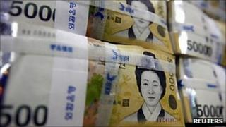 Fifty-thousand won notes