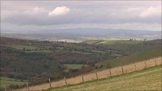 Masts have been placed on the South Shropshire hills and valley