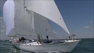 Gipsy Moth IV at sea