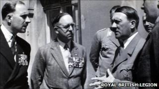Hitler and members of the British Royal Legion