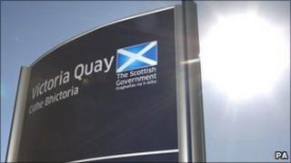 Gaelic Scottish government sign