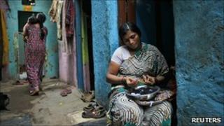 Shobha Vakade, who took a loan from a micro finance company to start her own business