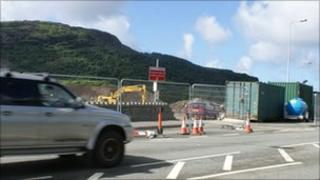 Part of construction work on the Porthmadog by-pass