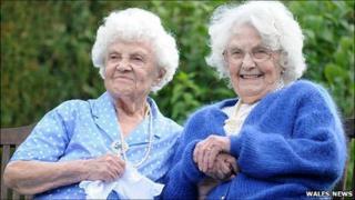 Ena Pugh and Lily Millward