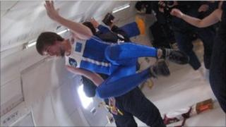 Gravity countermeasure suit in flight (MIT)