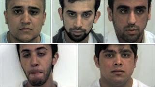 Clockwise from top left: Umar Razaq, Razwan Razaq, Mohsin Khan, Zafran Ramzan and Adil Hussain