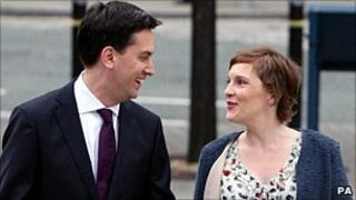 Ed Miliband and his partner Justine in September
