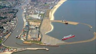 Great Yarmouth outer harbour
