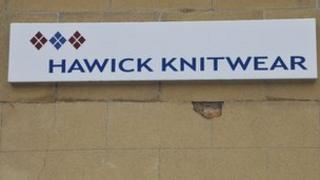 Hawick Knitwear sign