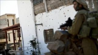 Israeli soldier on patrol in Ghajar (file image)