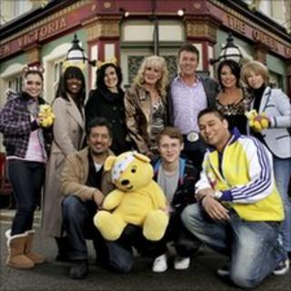 Some of the EastEnders and Coronation Street cast