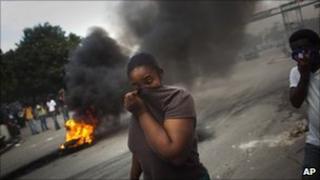 Protest in Port-au-Prince (15 November 2010)