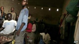 Congolese prisoners in an overcrowded jail (Archive shot from 2006)