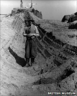 Archaeologist Basil Brown at Sutton Hoo