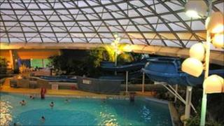 Swimming pool at the Oasis leisure centre