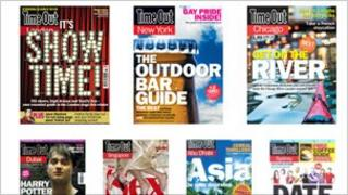 Some of Time Out's magazines