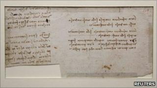 Leonardo da Vinci manuscript discovered in Nantes public library, 6 December 2010