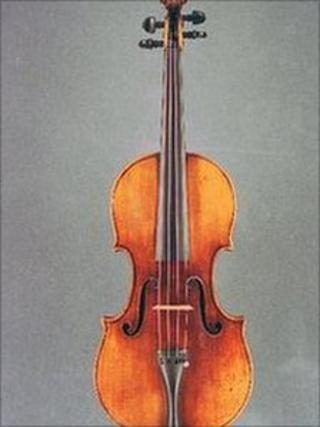 Stolen Stradivarius violin