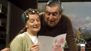 Stan (Bernard Youens) and Hilda Ogden (Jean Alexander)
