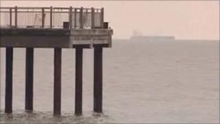 Tanker off Suffolk coast