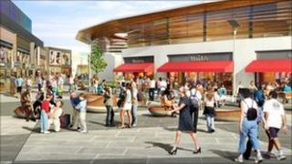 Artist impression of The Crescent in Hinckley