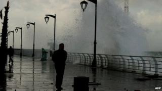 Storm on Beirut seafront - 11 December 2010