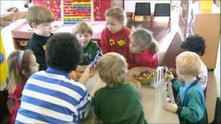 children at a nursery school generic
