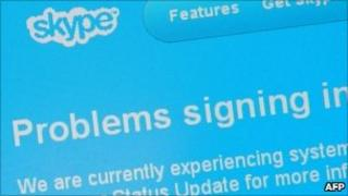 Skype error page, AFP/Getty