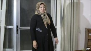 Sakineh Mohammadi Ashtiani arrives for a news briefing, in the northwestern city of Tabriz, Iran, 1 January, 2011