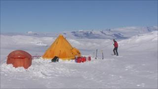 A previous expedition to Antarctica