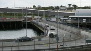 Part of Holyhead port