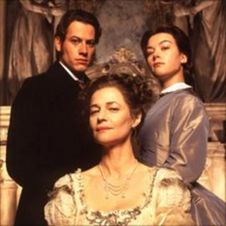 Ioan Gruffudd, Charlotte Rampling and Justine Waddell in the BBC's 1999 version of Great Expectations
