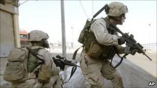 US soldiers in Mosul. File photo