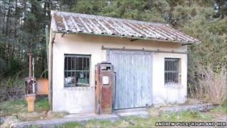 A long shut down filling station in the Highlands. Pic: Andrew Puls/Highland Council Historic Environment Record