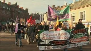 Carlisle spending cuts rally